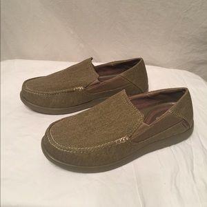 Beautiful fabric crocs Santa Cruz 2 khaki color